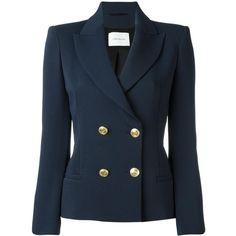 Designer Clothes, Shoes & Bags for Women Warm Outfits, Classic Outfits, Blazers For Women, Suits For Women, Blue Blazers, Suit Fashion, Fashion Outfits, Balmain Blazer, Balmain Jacket