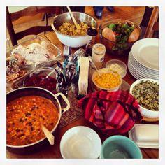 Wonderfully prepared Thanksgiving dinner! Sweet potato stew, spinach, turkey and all.