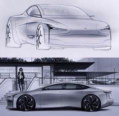 Car Design Sketch, Car Sketch, Cool Sketches, Car Painting, Transportation Design, Automotive Design, Concept Cars, Exterior Design, Automobile