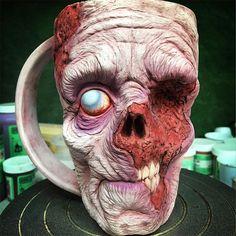 Zombie Mugs - The way too realistic horror mugs by Turkey Merck