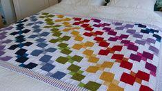 Tumbling Colours Crochet Pattern by JustDo on Etsy Mandala Au Crochet, Crochet Butterfly Pattern, Crochet Quilt, Manta Crochet, Crochet Squares, Afghan Patterns, Crochet Blanket Patterns, Crochet For Beginners Blanket, Crochet Projects