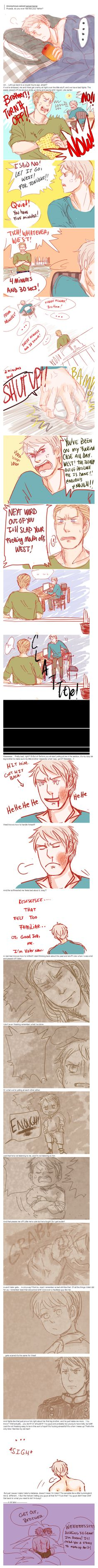 APH: Do you ever feel like your father? by Assby.deviantart.com on @deviantART - Gilbert and Ludwig (with a cameo from Germania)