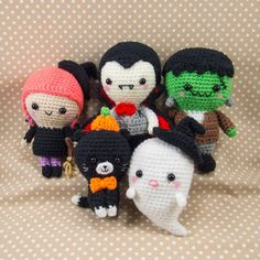 Halloween Crochet Patterns - Vampire, Witch, Cat, Ghost, Frankenstein