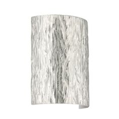 Modern Sconce Wall Light with Silver Glass in Polished Nickel Finish
