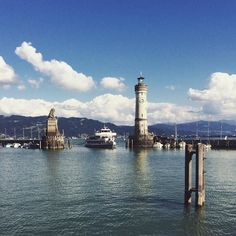The Bodensee is the lake in the Central Europe with 3 countries located along the coastline: Germany Switzerland and Austria.  I've passed by all of them but visited only one town there. It was Lindau and it was charming with its old lighthouse and narrow streets.