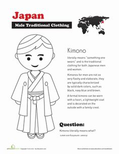 Second Grade Social Studies Worksheets: Traditional Japanese Clothing