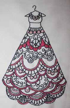 Colouring Book Inspired Dress