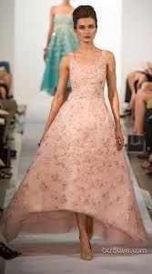 oscar dela renta blush dress 2013