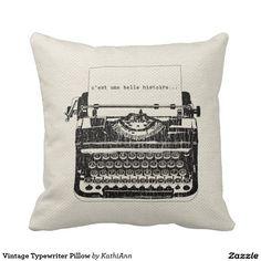 Vintage Typewriter Pillow Cushions