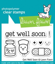 Lawn Fawn | Get Well Soon Set of 8 stamps