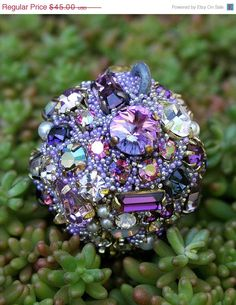 SALE Vintage Crystals Rhinestones Ball Orb by ASoulfulJourney, $36.00