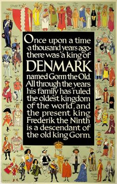 Denmark (Gorm the Old) by Thelander   Vintage Posters at International Poster Gallery