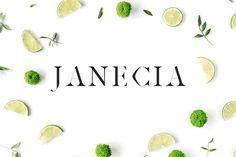 Flatlay Inspiration· via Custom Scene · Janecia Serif Typeface - Serif
