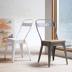 Xavier Dining Chair -- this looks really uncomfortable, but similar style for famiy room table