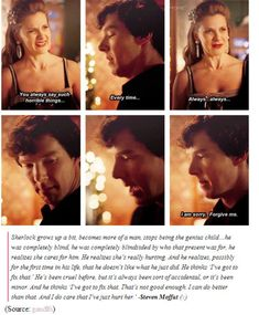 And then he kisses her cheek and all the Sherlolly shippers scream and freak out.