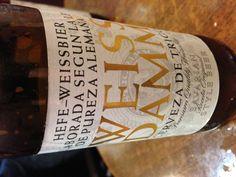WeissDamm, la nueva cerveza de trigo de Estrella al estilo de Baviera. Se ve en pocos sitios todavía.