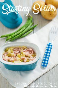 Little Mashies Pork, Green Beans & Potato - Baby Weaning free guide littlemashies.com/free