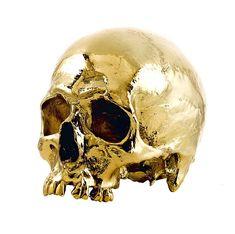 Gold | ゴールド | Gōrudo | Gylden | Oro | Metal | Metallic | Shape | Texture | Form | Composition |  24Kt Gold Skull