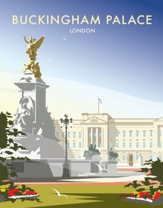 This Buckingham Palace Art Print is created using state of the art, industry leading Digital printers. The result - a stunning reproduction at an affordable price. A stunning Art Print featuring the design of Buckingham Palace, London. Posters Uk, Railway Posters, Portsmouth, Poster Retro, Buckingham Palace London, London Poster, British Travel, Travel Cards, San Francisco Travel