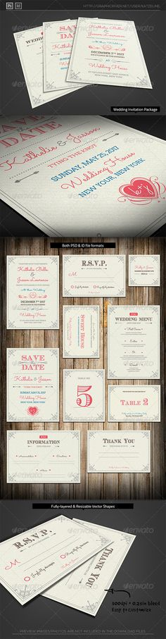 Fresh Royal Wedding Invitation Package Template PSD | Buy and Download: http://graphicriver.net/item/fresh-royal-wedding-invitation-package/6816511?WT.ac=category_thumb&WT.z_author=katzeline&ref=ksioks