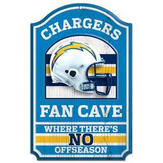 San Diego Chargers fan-cave 11x17 wood sign