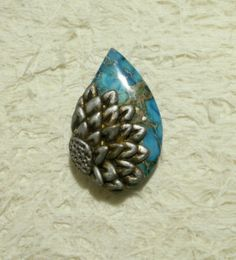 Jasper & polymer clay pendant. Will be listed in my Zibbet shop.