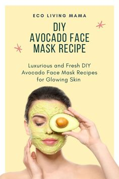 Easy DIY Avocado Face Mask Recipes for Glowing Skin. Avocado has amazing benefits for the skin, and this homemade facial mask is great for all skin types. How to make versions for dry skin, acne, oily skin, moisturizing, with honey, lemon, or yogurt.