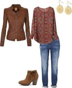 Jeanskombi passend in der Herbstfarbpalette