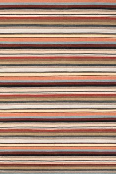 Dash and Albert Templo Stripe Wool & Cotton Area Rugs. These striped wool and cotton area rugs are striped in a beautiful blend of of colors including red, orange, blue, grey and ecru. Cat Rug, Dash And Albert, Rug Company, Braided Rugs, Discount Bedding, Textile Patterns, Textiles, Woven Rug, Home Gifts