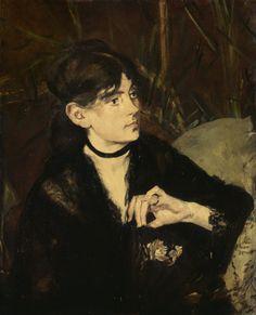 Edouard Manet- Berthe Morisot holding a fan