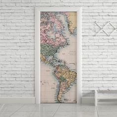 Adesivo de porta mapa - StickDecor | Decoração Criativa