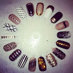 Studded nail art by Beth @ Beauty at obsessions Ramsgate