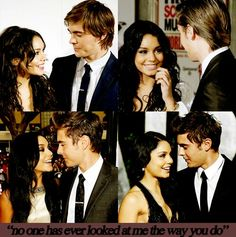 The way he look at her.