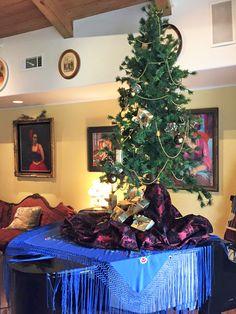Christmas tree design by Kitty Bartolomew for Rising Sun, home of photographer Joseph Sohm featured on the 2015 Ojai Holiday Home Tour in Ojai, California.