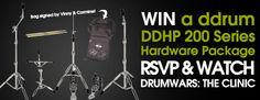 Win a drum hardware pack!  http://www.godpsmusic.com/info/Drumwars  #win #drummer #giveaway