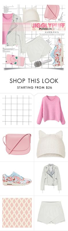 """POKEMON STYLE: JIGGLYPUFF"" by micksangelika ❤ liked on Polyvore featuring Mansur Gavriel, Topshop, NIKE, IRO and Sennheiser"