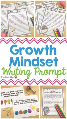 This pack has 75 editable writing prompts that will help your your 3rd, 4th, 5th, or 6th grade students foster a growth mindset. Each question comes in word form and an in a PowerPoint so it can be displayed for the entire class at once. You can also edit pages to type in your own prompts. Use in a binder as a bell ringer or morning work activity. It's also great for a writing center and will help your kids practice critical thinking about their thoughts, actions, and mindset. upper… Expository Writing, Teaching Writing, Writing Skills, Writing Activities, Writing Prompts, Teaching Ideas, 5th Grade Classroom, Kindergarten Classroom, New School Year