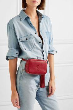 Saint Laurent | Monogramme Lou textured-leather belt bag  | NET-A-PORTER.COM