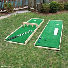 Mini Putt Ia Always Popular Outdoor Game For Kids And Adults So Why Not  Make One
