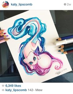 Pokemon fanart by Katy Lipscomb...sooo amazing!