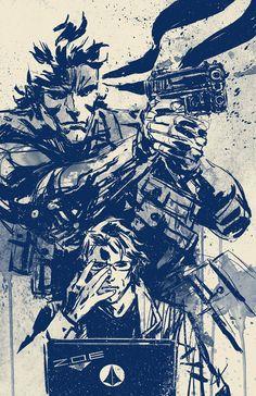 Snake & Otacon - Metal Gear Solid - Aaron Miner