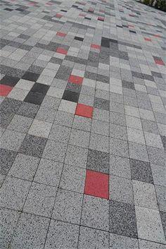 precast concrete pavers Floor Patterns, Tile Patterns, Floor Design, Tile Design, Landscape Architecture, Landscape Design, Paving Texture, Pavement Design, Paving Pattern