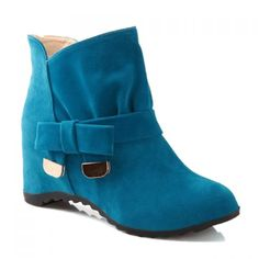 Sweet Bow and Metallic Design Women's Boots, BLUE, 39 in Boots   DressLily.com