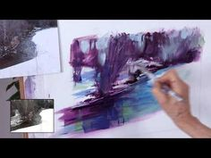 From ArtistsNetwork.TV: Terrance Lun Tse shows you how to paint soft, dreamy nature scenes using silk plants, spray paint, and water-based acrylics applied w...