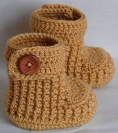 Baby booties crochet for newborn03M or 36M with by margarita779, $17.00