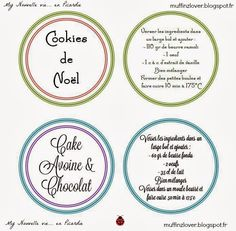 Recette gateau en pot, kit gourmand - muffinzlover.blogspot.fr Kit Cookies, Cookies Et Biscuits, Cookie Jars, Christmas Time, Christmas Ideas, Xmas, Mason Jars, Survival Kits, Weihnachten