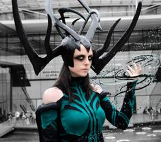 2017 Movie Thor 3 Ragnarok Hela Pvc Cosplay Masks Black Horns Queen Helmets Women Halloween Props Party Novel Design; In
