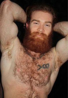 hairy Very redhead young