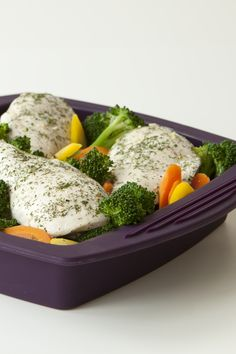 #Epicure Steamer 8 Minute Lemon Dilly Chicken and Broccoli #portioncontrol