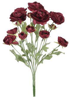 21' Elegant Ranunculus Bridal Wedding Bush - Burgundy *** You can find out more details at the link of the image.